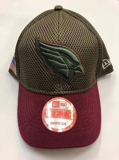 NFL BRAND NEW Arizona Cardinals Salute to Service New Era Curved Hat 5dbe9b2024277