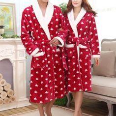 Peignoirs rouges pour couple