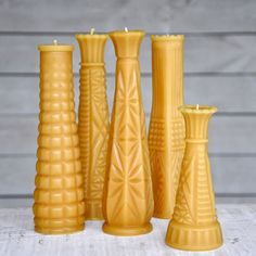 Fresh Pastry stand beeswax candles, from $15 (Made in Gainesville, Florida) #madeinusa #madeinamerica