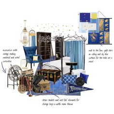 """""""ravenclaw dorm room"""" by queenaengland on Polyvore"""
