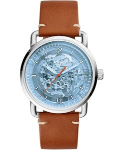Resembling a turn-of-the-century wristwatch, this automatic makes an impeccable impression with its iconic wire lug case, transparent acetate dial and overall clean aesthetic. Fossil Leather Watch, Brown Leather Strap Watch, Mens Watches Leather, Leather Men, Watches For Men, Men's Watches, Seiko, Bb Shop, Skin Roller