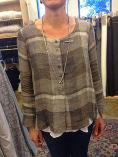 Sew Tessuti Blog - Sewing Tips & Tutorials - New Fabrics, Pattern Reviews: Judith modifies Silva to linen perfection