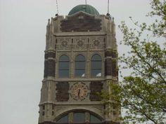 Clock tower of Bay City Central High School, Bay City, Michigan