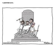 """ Mort de rire pour la France ""  Par #Menegol #LaFranceEstCharlie #JeSuisCharlie #CharlieHebdo"