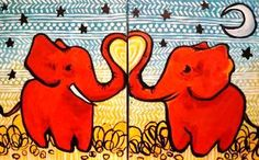 "Create a work of art together at Splash Studio, Milwaukee's paint bar where a local artist walks you through the creation of a masterpiece on canvas, accompanied by libations of your choice. The Valentine's Day featured painting is ""Trunks"" – two red elephants with trunks connected into a red heart. The package also includes a complimentary welcome cocktail and a box of chocolates to feed your date (or yourself)."
