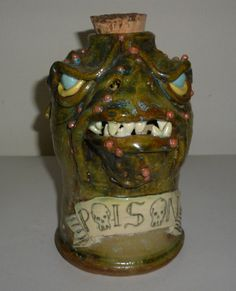 Dragon Head Poison Jug Bottle Artist Judhe by yourgiftshoppe