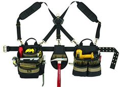 Professional Tool Belt Pouch Contractor Electrician Engineer Pocket Bag Storage #CustomLeathercraft