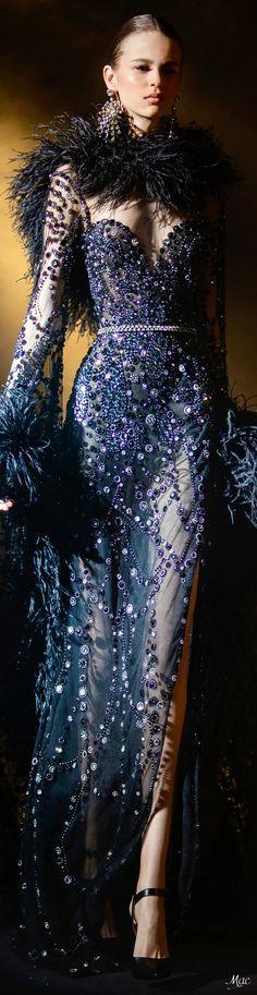 Spring 2021 Haute Couture Elie Saab Haute Couture Paris, Couture 2015, Elie Saab Couture, Couture Fashion, Fashion Show, Blue Fashion, High Fashion, Vintage Fashion, Boudoir Bleu