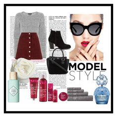 """""""girls day out"""" by qv33n-riri on Polyvore featuring Nly Shoes, rag & bone, Miss Selfridge, Karen Walker, Marc Jacobs, Benefit and The Body Shop"""