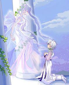 Helios's vision of Princess Chibi Usa