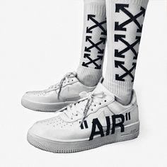 """""""CUSTOM"""" Nike Air Force 1 ultra force Off-White Inspired"""