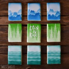 One With Nature   Cookie Connection First birthday cookies inspired by nature - the coast of British Columbia