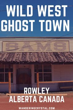 Rowley is one of the historic Ghost Towns in Alberta Canada with a twist. Take a tour to the wild west while being greeted by cats & mannequins. Quebec, Vancouver, Places To Travel, Places To Go, Canadian Travel, Canadian Rockies, Toronto, Columbia, Vacation