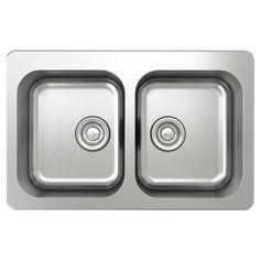 BOHOLMEN Double-bowl inset sink - IKEA $135.99