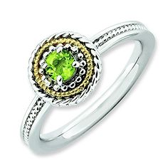 Sterling Silver  14k Stackable Expressions Sterling Silver Peridot Ring Size 6 *** You can get more details by clicking on the image.Note:It is affiliate link to Amazon. #ny