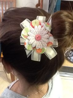 Felt and ribbon hair bow