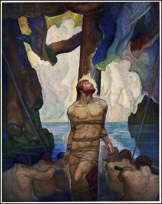 N.C. Wyeth was that rare genius who could marry illustration to fine art. Damn!