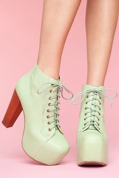 Jeffrey Campbell Lita in Mint. $162. I have two pairs of these already, so comfortable. Side note: never run downstairs in them.