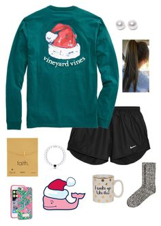 """so ready for Christmas!!"" by gabbbsss ❤ liked on Polyvore featuring NIKE, Dogeared, Nouv-Elle, H&M and Lilly Pulitzer"