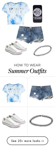 """""""Outfit •1 ☀️"""" by mylifeasmari19 on Polyvore featuring Converse, Boohoo and RVCA"""