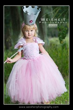 GOOD LITTLE WITCH Glinda Inspired Tutu Set with Ultra Full Tutu, Beaded Corset Top, Crown and Wand. $165.00, via Etsy.