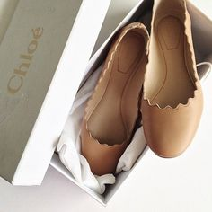chloe scallop ballet flats // i have these and they are so comfortable !!