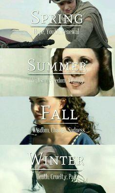 Star Wars Ladies + Seasons | Rey, Leia, Padme and Jyn