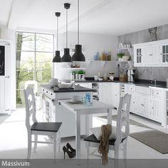 sehr schöne Klassische Landhausküche in L-Form Weiß | Dassbach ... | {Landhausküchen weiss modern 53}