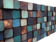 Sticker bois - Sculpture murale en bois récupéré