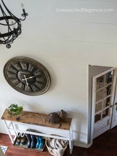 """Do you love shiplap?? See how you can add a """"faux shiplap"""" to your home for a fraction of the cost!"""
