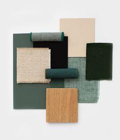 Studio HENK | Colour and material for ICFF - New York Room Colors, House Colors, Colours, Colour Pallette, Colour Schemes, Color Inspiration, Interior Inspiration, Mood Board Interior, Interior Design Boards
