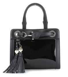 wardow.com - #Aigner Cavallina Handtasche Leder schwarz 23 cm #blackwhite #color #fashion #bag