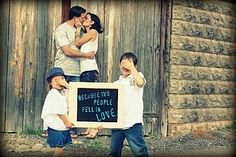 I am going to do this for our next family pic..
