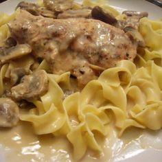 Crock Pot Chicken and Mushrooms Recipe