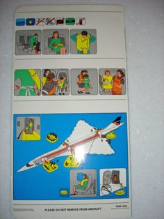 British Airways safety card ( 90's) #travel #alookat #airlines