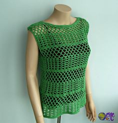 Free crochet pattern for a summer lace top shown at an angle from the top and side to show off the invisible seam.