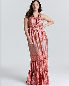 Melissa Masse   Melon Ikat Border Dress Available now
