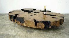 Table basse en bois pétrifié
