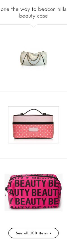 """""""one the way to beacon hills beauty case"""" by narrystoren ❤ liked on Polyvore featuring bags, handbags, tote bags, chanel, bolsas, pochette, tote hand bags, chanel tote, chanel purse and chanel tote bag"""