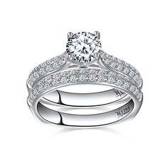 Valina Designer 14k Gold 1 1/2ct TDW Pave Round-cut Bridal Set