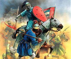 Catafractos bizantinos combatiendo contra persas sasánidas. Más en www.elgrancapitan.org/foro