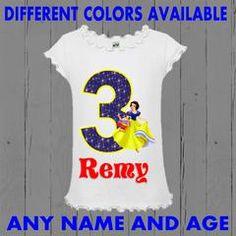 Princess Snow White Girls Birthday Shirt