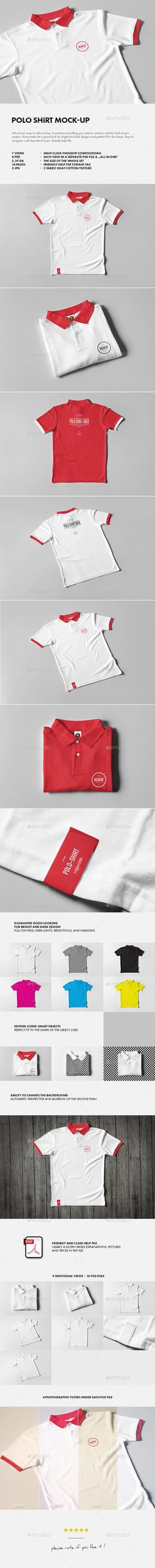 Polo Shirt Mockup  — PSD Template #mock up #ticket • Download ➝ https://graphicriver.net/item/polo-shirt-mockup/18429042?ref=pxcr