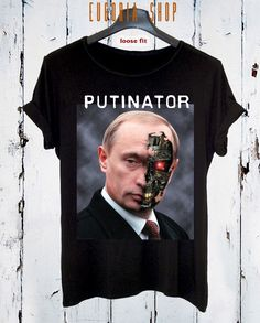 NEW Spring Design Putinator T-shirt / Style Printed T-shirt / Funny Clothing Unique High Fashion / Extravagant Tank Top by Eugoriashop