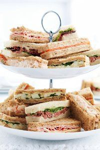 Buy the Afternoon Tea Sandwich Fingers Pieces) from Marks and Spencer's range. Tee Sandwiches, Tea Party Sandwiches, Finger Sandwiches, Brunch, Sandwich Croque Monsieur, High Tea Food, Tapas, Afternoon Tea Parties, Afternoon Tea At Home