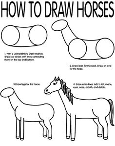How to draw a horse  - so many times I'm asked to draw horses!
