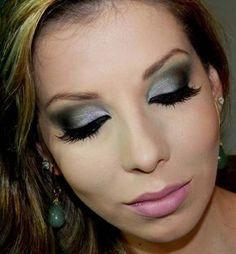 Maquiagem para usar com vestido tiffany, verde água e azul turquesa
