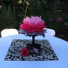 jess-just liked the idea of using a pretty cloth place mat under your center piece!