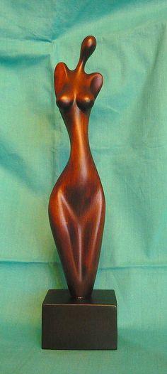 y Modern Art Sculpture, Abstract Sculpture, Sculptures Céramiques, Sculpture Clay, Ceramic Figures, Ceramic Art, Creation Deco, Wooden Art, Art Object