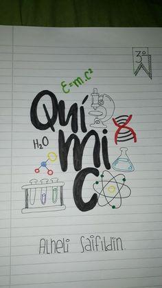 #caratulas #portadas #cuadernos #quimica #fuentes #apuntes #lettering #caligrafia #study #copy #notes